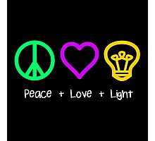 Peace, Love, and Light Photographic Print
