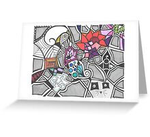 4-10-16 doodle Greeting Card