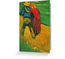 'Two Lovers' by Vincent Van Gogh (Reproduction) Greeting Card
