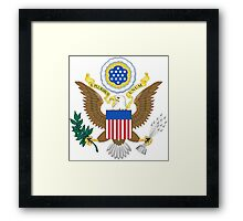 USA Coat of Arms  Framed Print