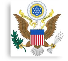 USA Coat of Arms  Canvas Print