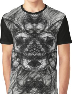 Majestic Scribble Symmetrical Abstract Graphic T-Shirt
