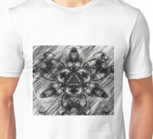 Majestic Scribble Symmetrical Abstract Unisex T-Shirt