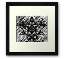 Majestic Scribble Symmetrical Abstract Framed Print