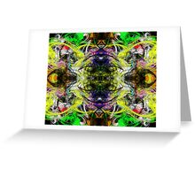 Symmetry Of Colour Abstract Greeting Card