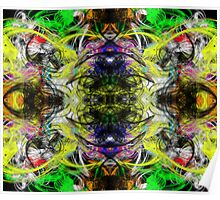 Symmetry Of Colour Abstract Poster