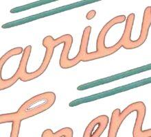 marianas trench Sticker