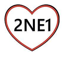 2NE1 Heart Photographic Print