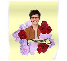 Mackenzei Bourg Roses Poster