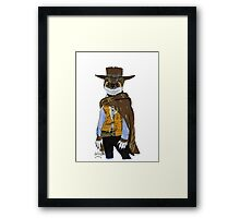 """Weasel """"Blondie"""" from The Good the Bad and the Ugly Framed Print"""