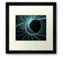 fractal spiral Framed Print
