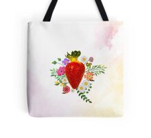 Blooming Strawberry Tote Bag