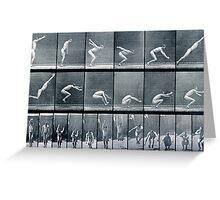 Eadweard Muybridge - standing jump Greeting Card