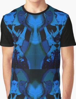 Blue Rubber Graphic T-Shirt