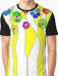 Flowers over yellow Graphic T-Shirt