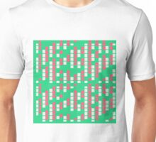 Matrix Mint Pink Unisex T-Shirt