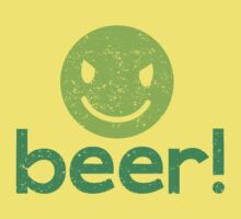 Beer! with cute evil smiley face Baby Tee