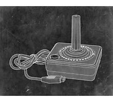 Distressed Atari Joystick - Black & White Photographic Print