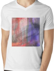 Fire And Ice Abstract Texture 2 Mens V-Neck T-Shirt