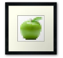 The Pixel + The Apple Framed Print
