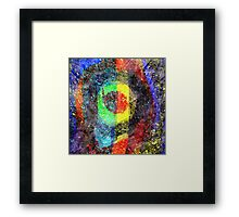 Chaos Textured Abstract 3 Framed Print