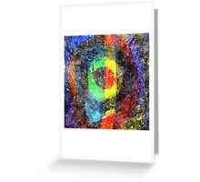 Chaos Textured Abstract 3 Greeting Card