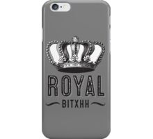 Royal Bitxh Vintage Crown  iPhone Case/Skin