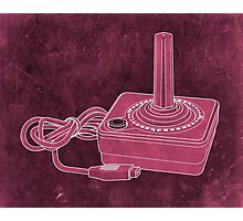 Distressed Atari Joystick - Pink Photographic Print