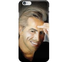 """hand drawing with pastels """"Don Johnson"""" iPhone Case/Skin"""