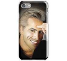 "hand drawing with pastels ""Don Johnson"" iPhone Case/Skin"