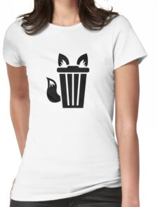 Furry Trash Icon Womens Fitted T-Shirt