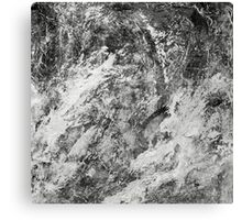 Black And White Tempest Abstract Canvas Print