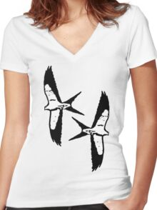 Wing it Women's Fitted V-Neck T-Shirt