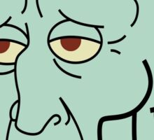 Handsome Squidward Sticker