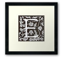 William Morris Inspired Letter E  Framed Print