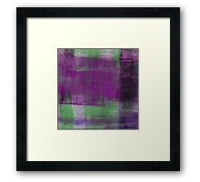 Purple, Green and black abstract painting Framed Print