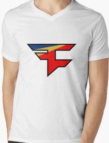 Official Faze Clan Logo Mens V-Neck T-Shirt