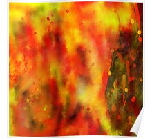 Burned - Abstract Painting Poster