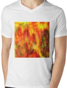 Burned - Abstract Painting Mens V-Neck T-Shirt