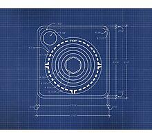 Atari Joystick Blueprint Photographic Print