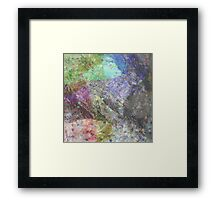 Multi Coloured Abstract Painting Framed Print