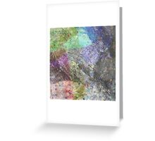 Multi Coloured Abstract Painting Greeting Card