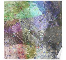 Multi Coloured Abstract Painting Poster