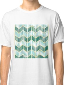 Chevron - Forest Mist Classic T-Shirt