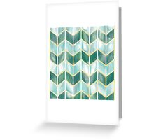 Chevron - Forest Mist Greeting Card