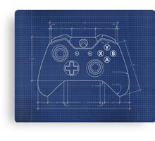 XBOX One Controller Blueprint Canvas Print