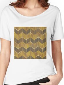 Chevron - Gilded Bronze Women's Relaxed Fit T-Shirt