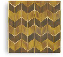 Chevron - Gilded Bronze Canvas Print
