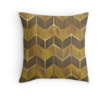 Chevron - Gilded Bronze Throw Pillow