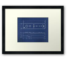 Wii Remote Blueprint Framed Print